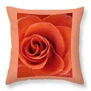 Orange Twist Rose 5 Throw Pillow