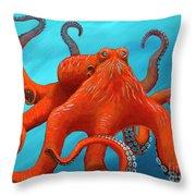 Orange-u-gr-8 Throw Pillow