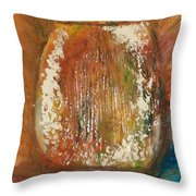 Orange Vase Throw Pillow