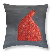 Orange Vase Throw Pillow