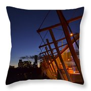 Orange Veil Over Toronto Throw Pillow