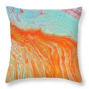 Tangerine Beach Throw Pillow
