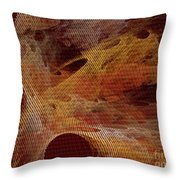 Orange With Texture Throw Pillow