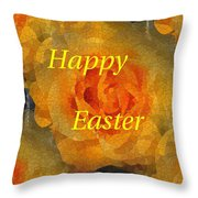 Orange You Lovely Easter Throw Pillow