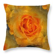 Orange You Lovely Throw Pillow