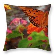 Orange You Pretty Throw Pillow