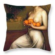 Oranges And Lemons Throw Pillow by Julio Romero de Torres