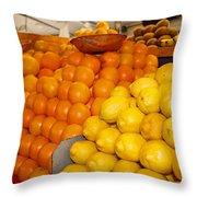 Oranges And Lemons Throw Pillow