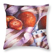 Oranges In A Blanket Throw Pillow