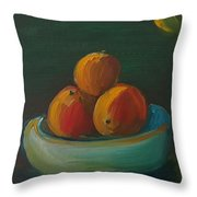 Oranges In A Bowl  Throw Pillow