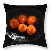 Oranges In Sunlight Throw Pillow