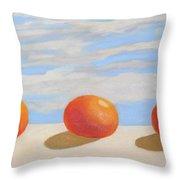 Oranges On A Ledge Throw Pillow