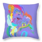 Orangutan Mom And Baby Throw Pillow