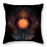 Orb Moon Rings Throw Pillow