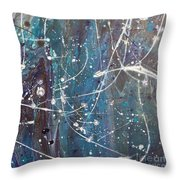 Orb Tracers Throw Pillow