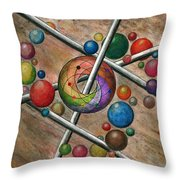 Orbital Ker Plunk  Throw Pillow