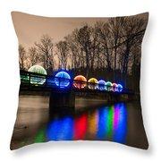 Orbs On Osceola Bridge Throw Pillow