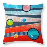 Orbs On Planes #2 Throw Pillow