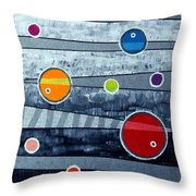 Orbs On Planes #3 Throw Pillow