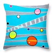 Orbs On Planes Throw Pillow