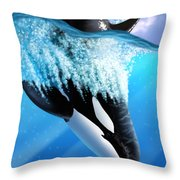 Orca 2 Throw Pillow by Jerry LoFaro
