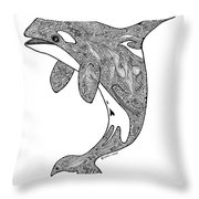 Orca Throw Pillow by Carol Lynne