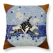 Orca Mosiac Throw Pillow by Jamie Frier