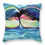 Orca Valentine Throw Pillow