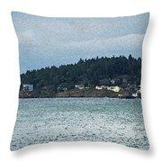 Orcas Island View  Throw Pillow