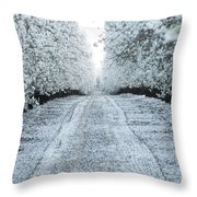 Orchard In White Throw Pillow