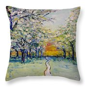 Orchard Path Throw Pillow