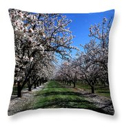 Orchard Trees Blossoming Throw Pillow