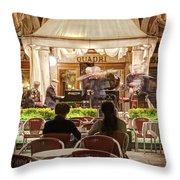 Orchestra At Ristorante Quadri On St Mark's Square - Venice Throw Pillow