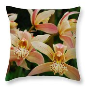 Orchid 255 Throw Pillow
