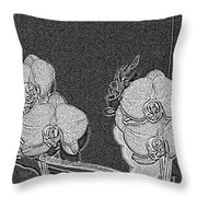 Orchid 3 Throw Pillow