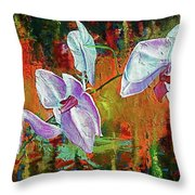 Orchid A Throw Pillow
