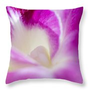Orchid Abstract Throw Pillow