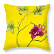 Orchid And Amarillo Throw Pillow