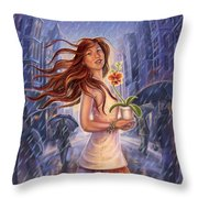 Orchid - Be Yourself Throw Pillow