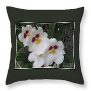 Orchid Beauties Throw Pillow