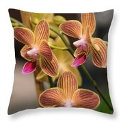 Orchid Chingruey's Goldstaff Throw Pillow