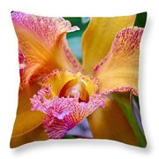 Orchid Close Up Throw Pillow