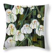 Orchid Dance Throw Pillow