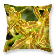 Orchid Drama Canvas Throw Pillow