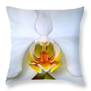 Orchid Fire Throw Pillow