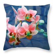 Orchid Flowers 8 Throw Pillow