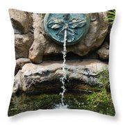 Orchid Fountian Throw Pillow