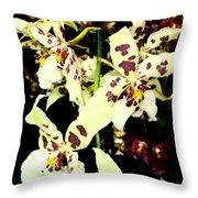 Orchid Fresco Throw Pillow