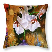 Orchid Ho Throw Pillow