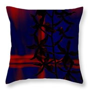 Orchid Impression Throw Pillow